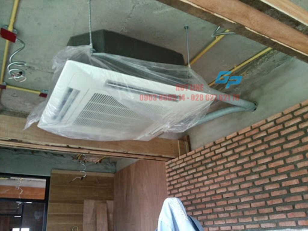 Lắp đặt máy lạnh âm trần không dấu trần